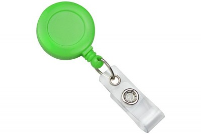Neon Green Badge Reel (25/Pkg)