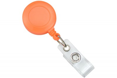 Neon Orange Badge Reel (25/Pkg)