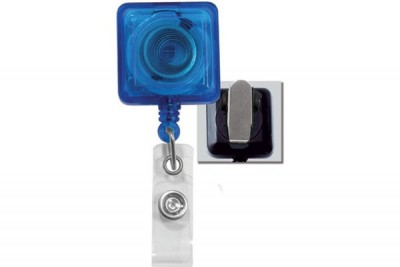 Translucent Blue Badge Reel (25/Pkg)