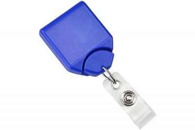 Metallic Blue B-REEL Badge Reel w/ swivel-clip w/ teeth (25/Pkg)
