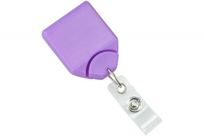 Purple B-REEL Badge Reel w/ swivel-clip w/ teeth (25/Pkg)