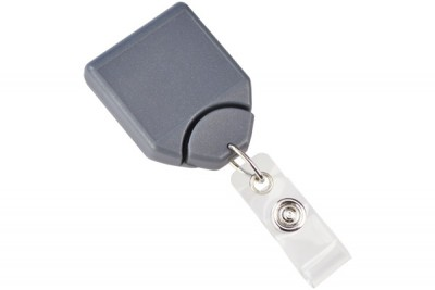 Metallic Gray B-REEL Badge Reel w/ Swivel Belt Clip (25/Pkg)