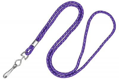 Purple Silver Metallic Lanyard (100/Pkg)