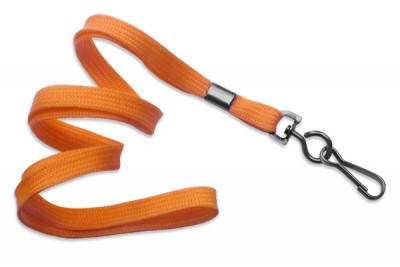 "Orange 3/8"" (10 mm) Lanyard w/ Black-Oxide Swivel Hook (1000/Pkg)"