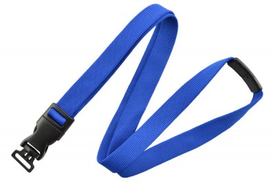 "Royal Blue 5/8"" (16mm) Optiweave Lanyard w/ DTACH Combo Loop (1000/Pkg)"