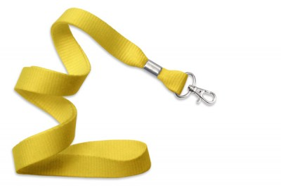 "Yellow 5/8"" (16 mm) Lanyard w/ Trigger Snap Swivel Hook (1000/Pkg)"