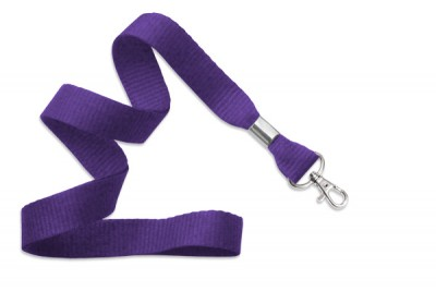 "Purple 5/8"" (16 mm) Lanyard w/ Trigger Snap Swivel Hook (1000/Pkg)"