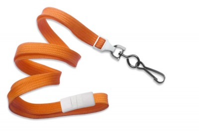 "Orange 3/8"" (10 mm) Breakaway Lanyard w/ Black Oxide Swivel Hook (1000/Pkg)"