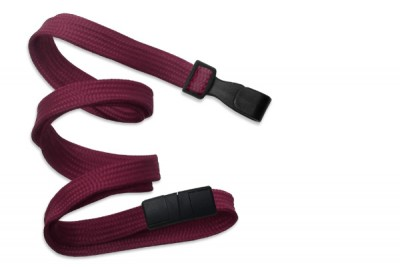 "Maroon 3/8"" (10 mm) Breakaway Lanyard w/ Wide Plastic Hook (100/Pkg)"