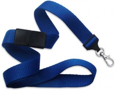 "Royal Blue 5/8"" (16 mm) Breakaway Lanyard w/ Trigger Snap Swivel Hook (1000/Pkg)"
