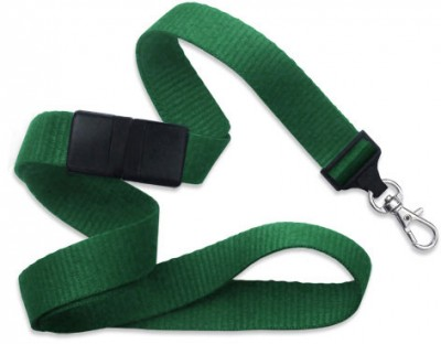 "Green 5/8"" (16 mm) Breakaway Lanyard w/ Trigger Snap Swivel Hook (1000/Pkg)"
