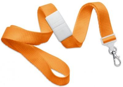 "Orange 5/8"" (16 mm) Breakaway Lanyard w/ Trigger Snap Swivel Hook (1000/Pkg)"
