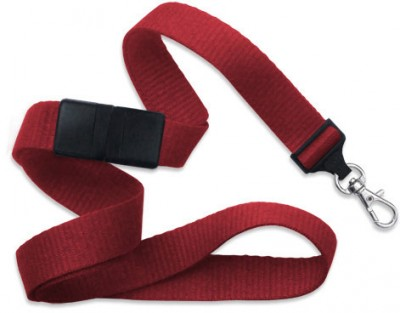 "Red 5/8"" (16 mm) Breakaway Lanyard w/ Trigger Snap Swivel Hook (1000/Pkg)"