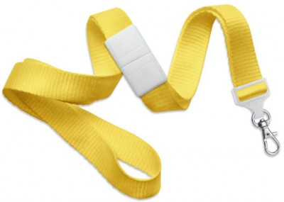 "Yellow 5/8"" (16 mm) Breakaway Lanyard w/ Trigger Snap Swivel Hook (1000/Pkg)"
