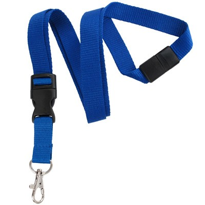 Royal Blue Detachable Breakaway Lanyard (100/Pkg)
