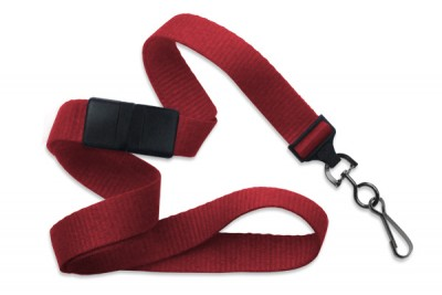 "Red 5/8"" (16 mm) Breakaway Lanyard w/ Black-Oxide Swivel Hook (1000/Pkg)"
