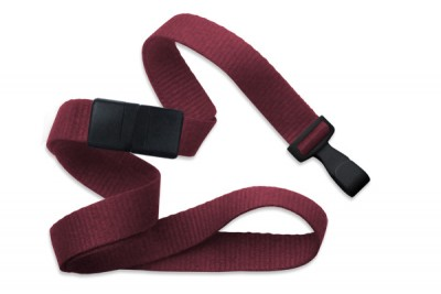 "Maroon 5/8"" (16 mm) Breakaway Lanyard w/ Wide ""No-Twist"" Plastic Hook (100/Pkg)"