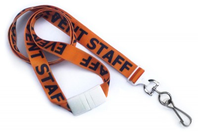 "Event Staff 5/8"" (16 mm) Pre-Printed Lanyards (100/Pkg)"
