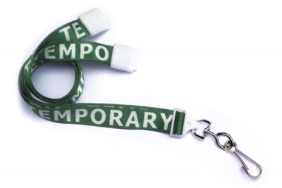 "Temporary 5/8"" (16 mm) Pre-Printed Lanyards (1000/Pkg)"