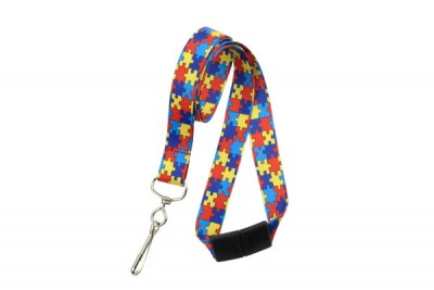 Autism Awareness Lanyard - Red/Yellow/Blue/Navy (100/Pkg)