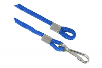 Royal Blue Open Ended Lanyard w/ Swivel Hook & Loop (1000/Pkg)