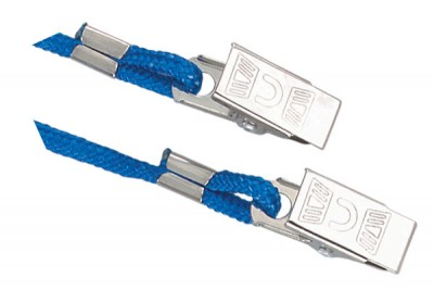 Royal Blue Open Ended Lanyard w/ 2 Bulldog Clips (1000/Pkg)