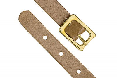 Tan Genuine Leather Luggage Strap with Brass-Plated Buckle, 5 Holes (25/Pkg)