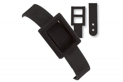 Black Plastic Dual Post Textured Strap (500/Pkg)