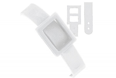 White Plastic Dual Post Textured Strap (500/Pkg)