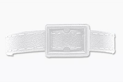 White Post And Notch Textured Strap (500/Pkg)
