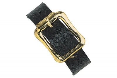 Black Luggage Strap with Brass-Plated Steel Buckle (10000/Pkg)