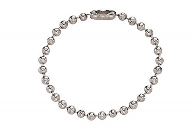 """Nickel-Plated Steel Ball Chain, 4 1/2"""", No 6 Bead Size (500/Pkg)"""