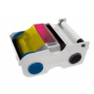 Fargo 45010 YMCKOK Color Ribbon Cartridge for DTC1000/1250E - 200 prints/roll