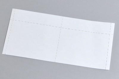 Perforated White Insert Cards (50 Sheets Per Pack)