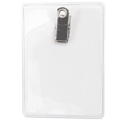 Premium Vertical Badge Holder - Clip-On, Government Size (100/Box)