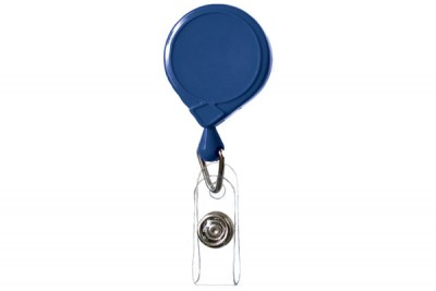 Royal Blue Classic Mini-Bak Badge Holder Reel Id w/ Strap & Slide Clip (25/Pkg)