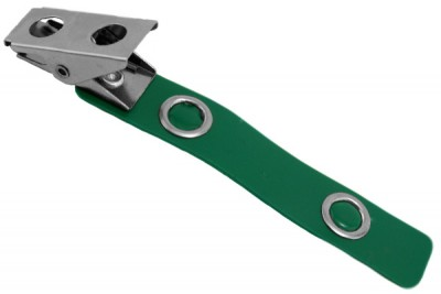 Green 2-Hole Colored Strap Clip (100/Pkg)
