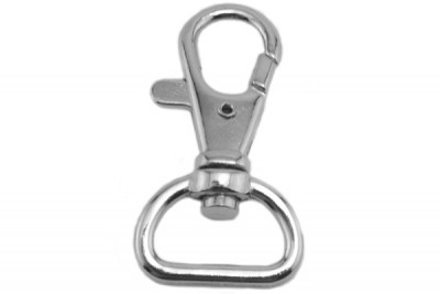 Lanyard Component, 15mm Trigger Snap Nickel Plated Steel Swivel Hook (1000/Pkg)
