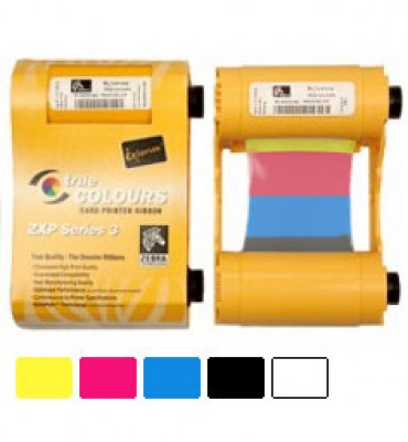Zebra 800033-840 YMCKO Color Ribbon for ZXP Series 3 Printers - 200 Prints