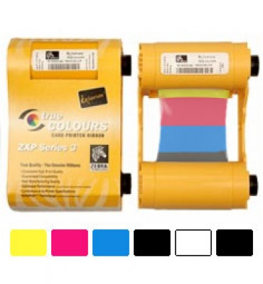 Zebra 800033-848 YMCKOK Color Ribbon for ZXP Series 3 Printers - 165 Prints
