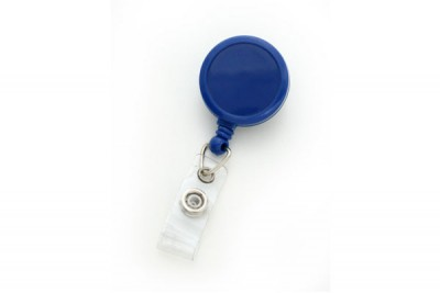 Royal Blue Round Max Label Reel w/ Strap Swivel Clip (25/Pkg)