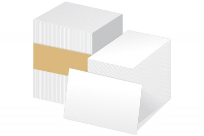 White Blank CR80.020 PVC Card Graphic Quality (100/Box)