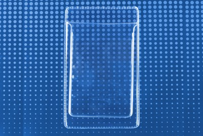 Clear Vertical Pocket Protector, Government Size (100/Box)
