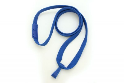 "Royal Blue 3/8"" Breakaway Lanyard w/ Wide Plastic Hook (100/Pkg)"