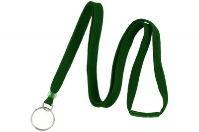 "Green 3/8"" Breakaway Lanyard w/ Split Ring (100/Pkg)"