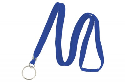 "Royal Blue 3/8"" Breakaway Lanyard w/ Split Ring (100/Pkg)"