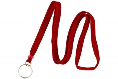 "Red 3/8"" Breakaway Lanyard w/ Split Ring (100/Pkg)"