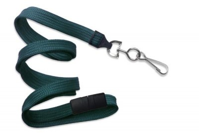 "Teal 3/8"" Breakaway Lanyard w/ Nickel-Plated Steel Swivel Hook (100/Pkg)"