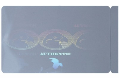 PVC Card with Authentic Eagle Hologram (500/Box)