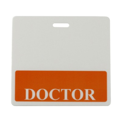 Doctor Horizontal Badge Buddies, Orange (25/Pkg)